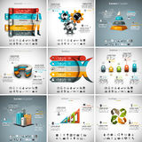 9 in 1  Infographics Bundle Stock Photography