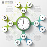 Infographics. Business Clock. Modern design template. Vector illustration Royalty Free Stock Photography