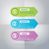 Infographics business concept of strage template. Infographics elements. Creative business concept of stage, parts, steps. Template for chart, presentation Stock Photography