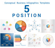 Infographics Business Conceptual Cyclic Processes Five Positions Stock Image