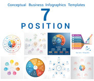 Infographics Business Conceptual Cyclic Processes Seven Position Royalty Free Stock Image