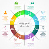 Infographics business elements. Business infographics elements pie charts diagrams and graphs flat icons set. Can be used for infographics, graphic or website Stock Images