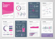 Infographics business elements and vector design illustrations Stock Photography
