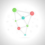 Infographics of business growth. With colored icons Royalty Free Stock Image
