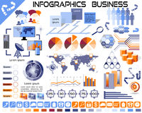 Infographics Business Icons EPS10 Royalty Free Stock Photo