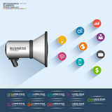 Infographics business solutions design template Royalty Free Stock Photos