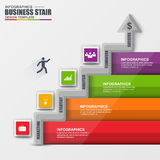 Infographics business stair step success vector Royalty Free Stock Photo