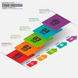 Infographics business stair step success vector design template Stock Photo