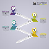 Infographics business staircase concept. Modern design template. Vector illustration Royalty Free Stock Photo