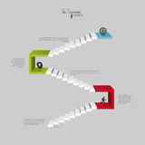 Infographics business staircase concept, Vector illustration Stock Image