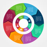 Infographics business template Stock Images