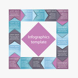 Infographics business template Royalty Free Stock Photo