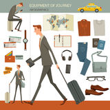 Infographics of business travel and journey concept. Stock Image