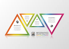 Infographics business triangle. Modern design template. Vector illustration Royalty Free Stock Image