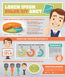 Infographics with Businessmen Stock Photo