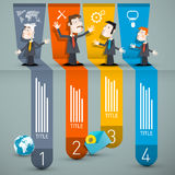 Infographics with Businessmen and Paper Royalty Free Stock Photos