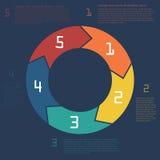 Infographics. Calibre pour la présentation d'affaires Images stock