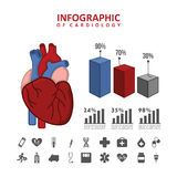 Infographics of cardiology design Royalty Free Stock Photos