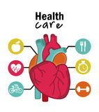 Infographics of cardiology design Stock Photography