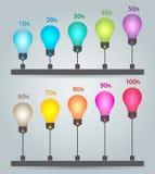 Infographics chart Royalty Free Stock Photos