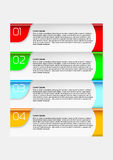 Infographics chart - goals to complete Royalty Free Stock Image
