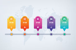 Infographics Chart - 5 steps sequence to success Royalty Free Stock Photos