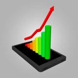 Infographics che mostra crescita nelle vendite di illustrazione di stock