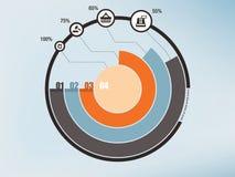 Infographics circle Royalty Free Stock Photos