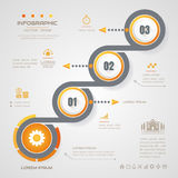 Infographics Circle design template with icons, process, Royalty Free Stock Images