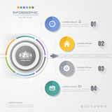 Infographics Circle design template with icons, process, Stock Photo