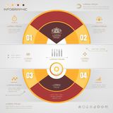 Infographics Circle design template with icons, process, Royalty Free Stock Photos