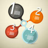 Infographics Circle Four Steps. Vector Illustration Royalty Free Stock Photo