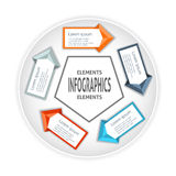Infographics circle origami style. Royalty Free Stock Photos