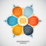 Infographics circle style. Royalty Free Stock Image