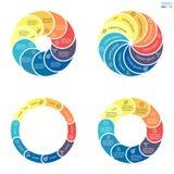 Infographics circular con las secciones coloreadas redondeadas Foto de archivo