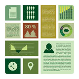 Infographics collection, charts, graphic vector elements Royalty Free Stock Images