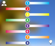 Infographics color labels with business icons. With mesh Royalty Free Stock Photo
