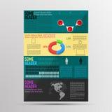 Infographics coloreado moderno del folleto Infographic con cronología, Fotografía de archivo libre de regalías