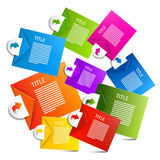 Infographics Colorful Vector Paper Labels Royalty Free Stock Photography