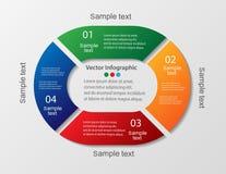 Infographics colorido con los pasos, opciones libre illustration