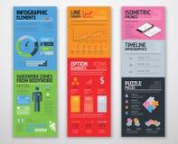 Infographics colorido en plantillas bien de manera operacional dispuestas ilustración del vector