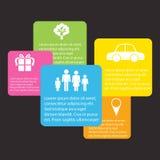 Infographics Colourful illustrazione vettoriale