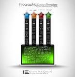 Infographics complex layout with option buttons and hand drawn sketch background Stock Photography