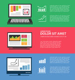 Infographics with computers Stock Image