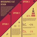 Infographics con diseño plano Foto de archivo libre de regalías