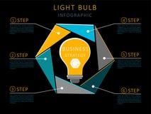 Infographics con la lampadina illustrazione di stock