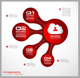 Infographics concept background to display your data in a stylish way. Royalty Free Stock Images