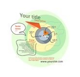 Infographics concept chart data in stylish way Royalty Free Stock Photo