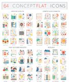 Infographics concept icons of medicine health, genetics biochemistry, heavy power industry and ecology. Premium quality. Vector flat design for web graphics Stock Photo