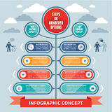 Infographics Concept - Steps or Numbered Options - Vector Scheme. Infographic concept for various design projects Royalty Free Stock Photography